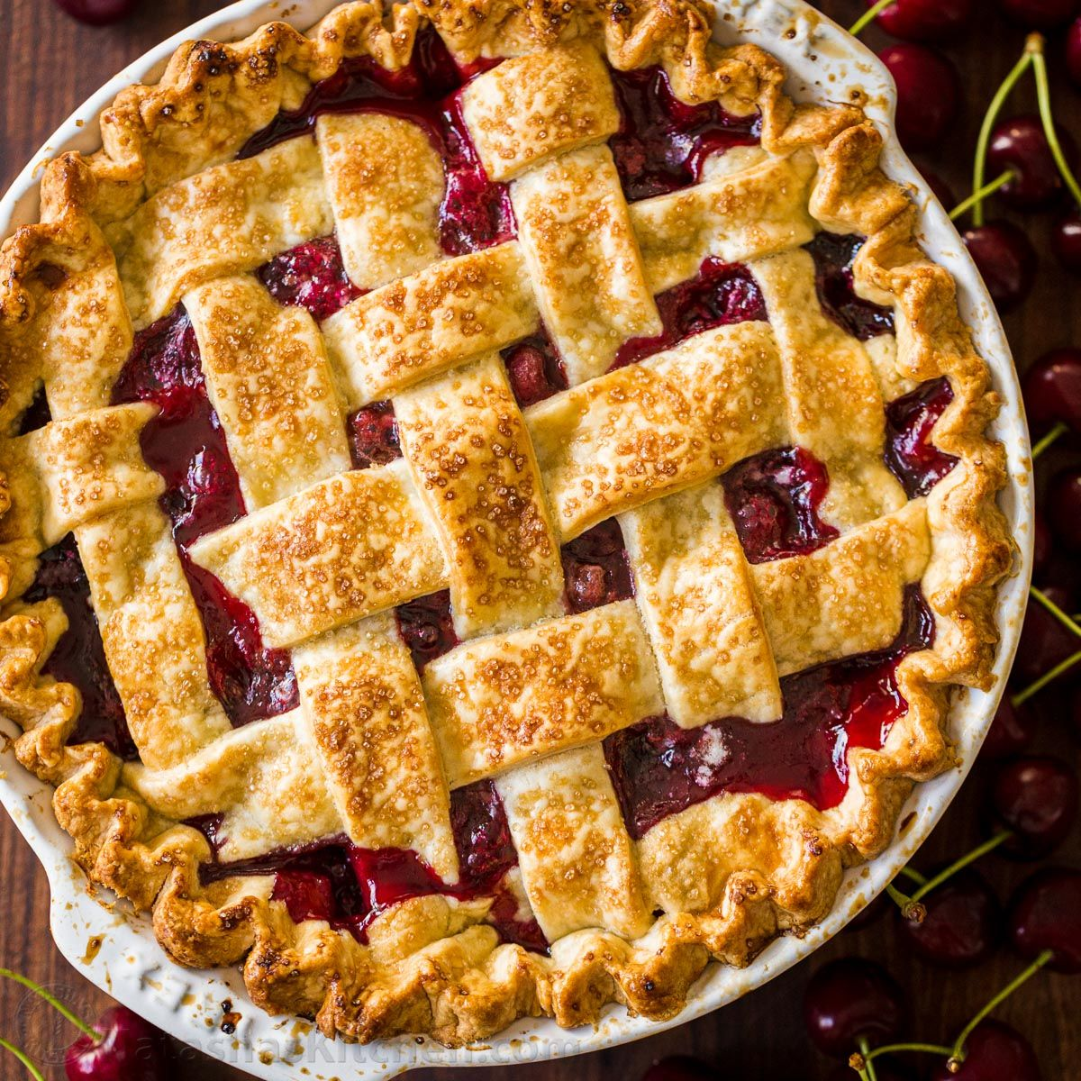 Classic Cherry Pie Recipe #sweetpie