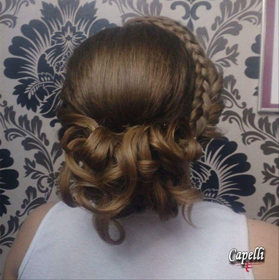 Prom hairstyle by creative director Draženka Marelja, Hair salon Capelli; prom hair formal hair prom updo upstyle braid braided hair for long hair
