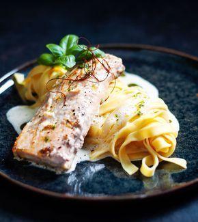 Photo of Salmon in White Wine Cream Sauce Recipe – What Do I Eat Today?