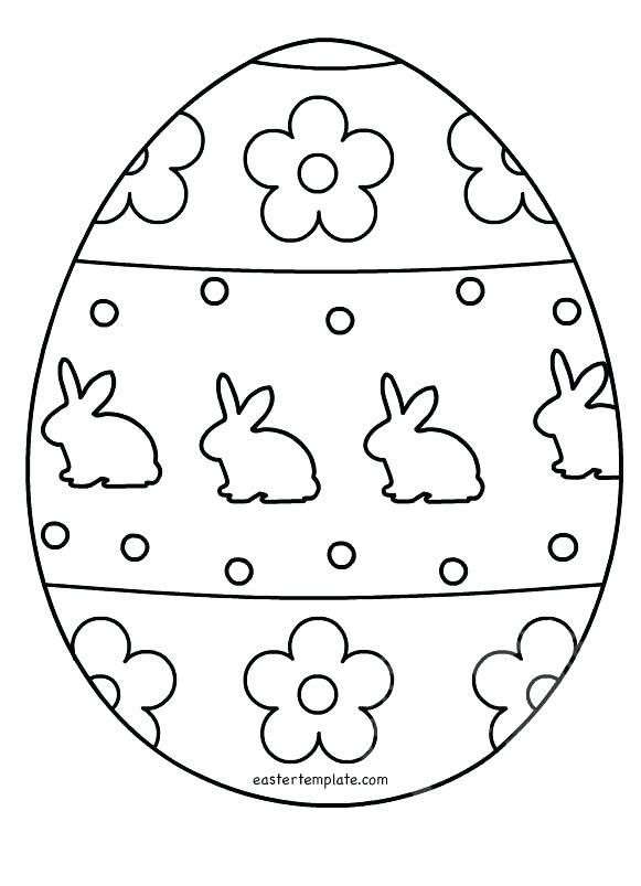 Easter Basket Coloring Pages Egg Colouring Page Template Home