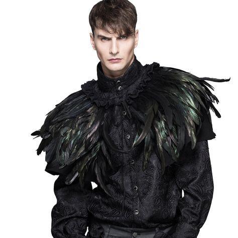 c5824d8560c2 Unisex Federcape /-umhang Raven | Federschmuck | Feather dress ...