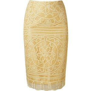 £: Martha Medeiros Renascença Lace Pencil Skirt