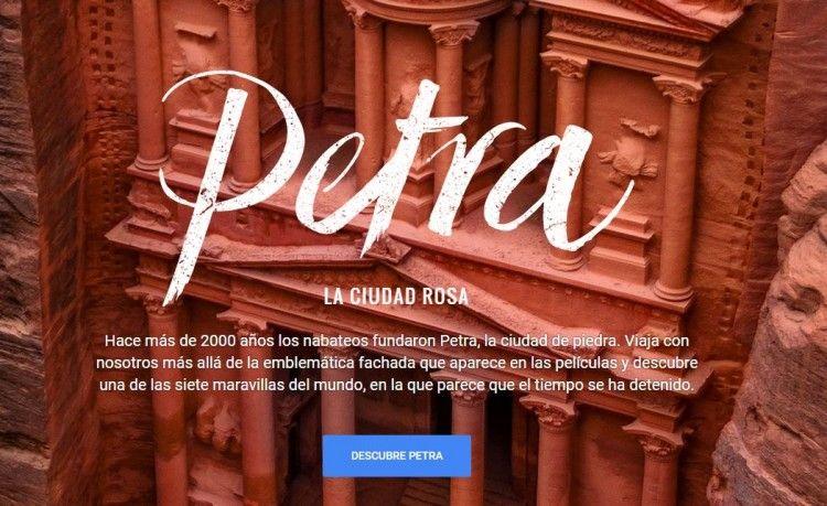 Conoce sobre Siéntete como Indiana Jones por las ruinas de Petra en Google Street View