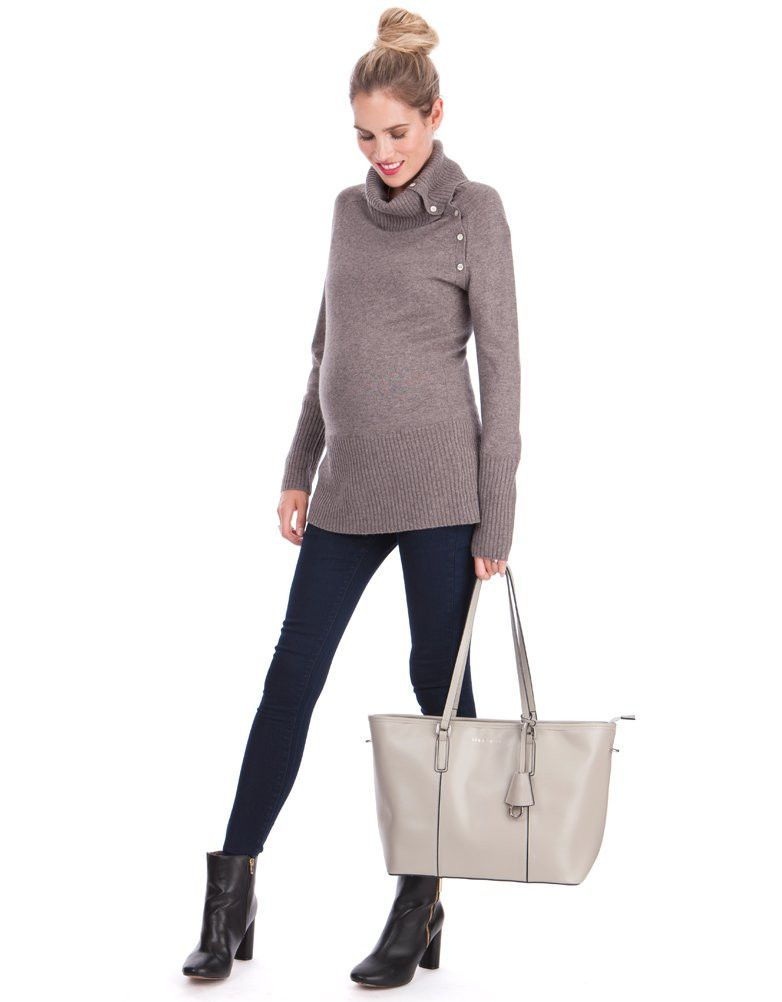 Button down nursing access Premium cashmere   lambswool blend Ribbed knit  detail Long line body Ultra-chic   sumptuously soft 3ff12d70e