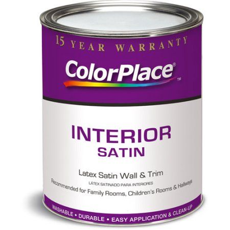 Colorplace Interior Satin Light Base Paint, 1 Qt | Satin and Products