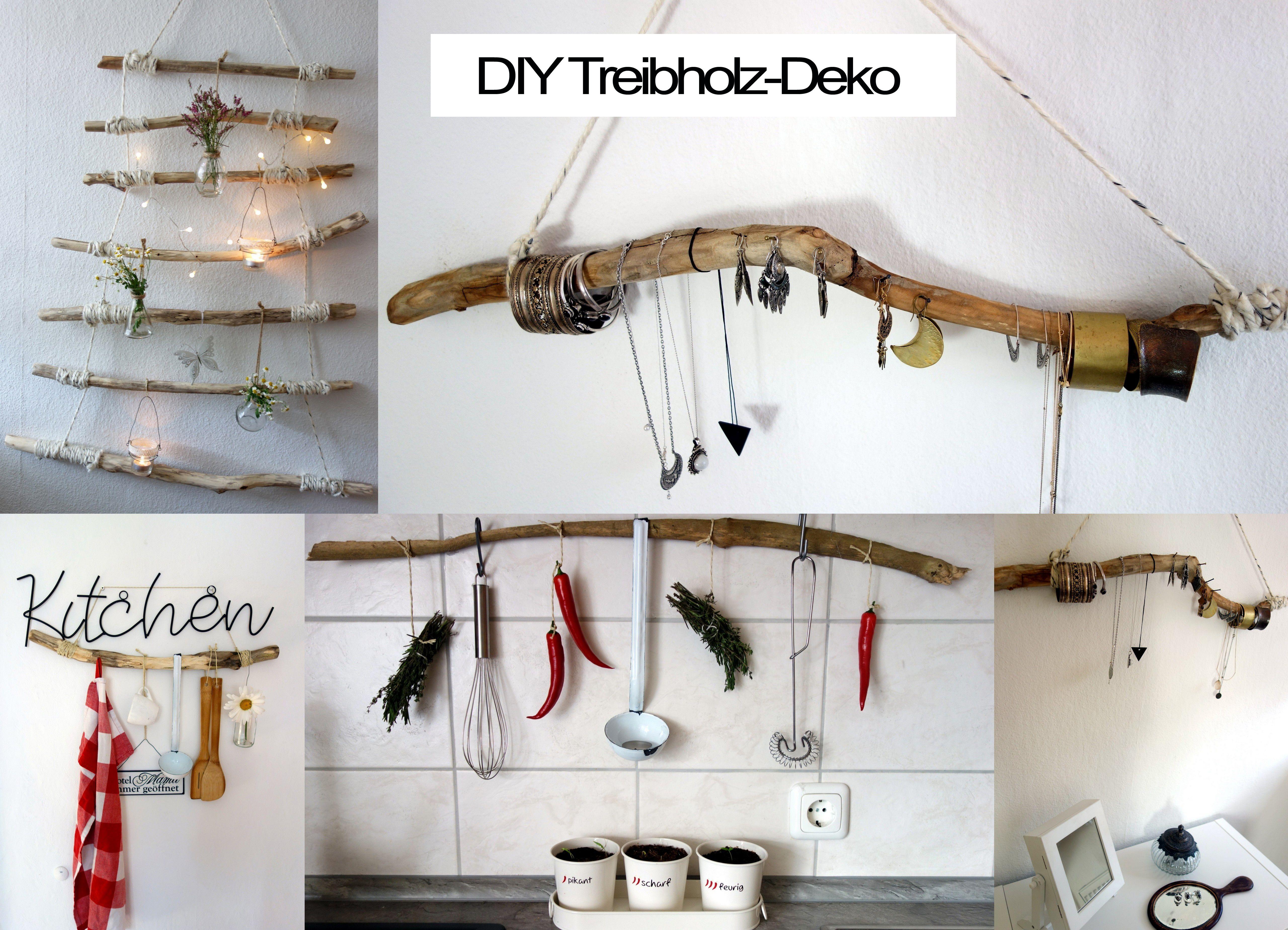Einfache Dekoration Und Mobel Moderner Reiniger Oder Hausmittel #19: #DIY #Treibholz #Deko #basteln #Selbermachen #Schmuckhalter #Handtuchhalter
