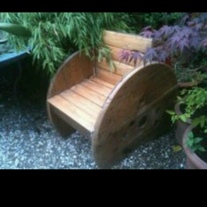 Wooden electrical spool chair DIY | Kindy | Pinterest | Electrical ...