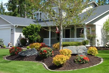 Front Yard Landscaping Photo Gallery and Simple Design Ideas ... on basic flowers for front yard, basic pool landscaping ideas, simple front yard, flowers ideas for front yard, fencing ideas for front yard,