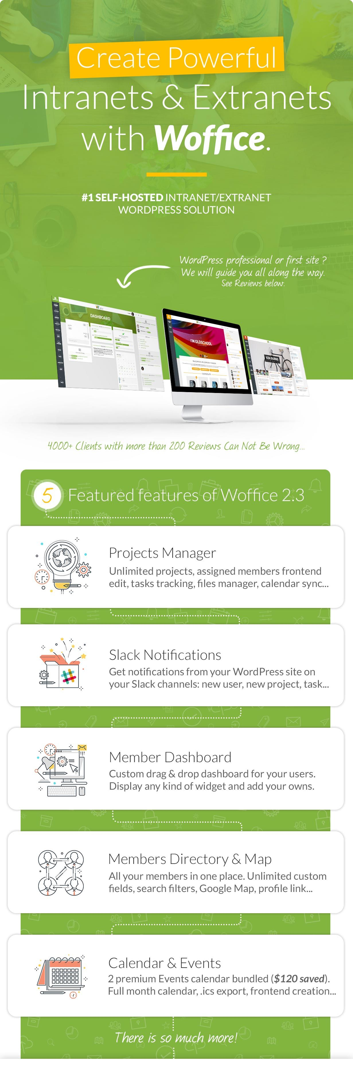 Woffice - Intranet/Extranet WordPress Theme | Pinterest | Material ...