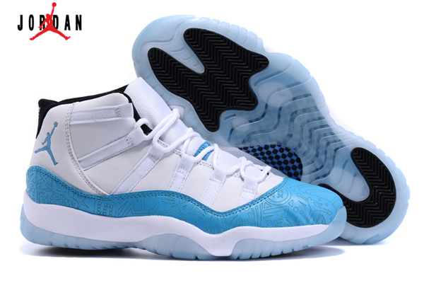 8e34049d31fbbd Men s Air Jordan 11 Retro Laser Basketball Shoes White Lake Blue ...