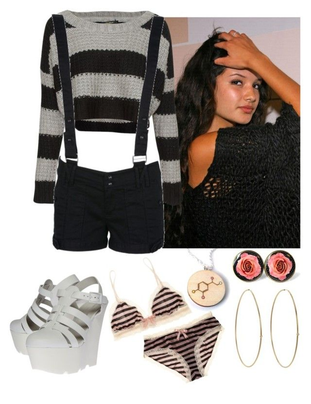 """Mai-- i'm a fire if you hesitate"" by theladyd ❤ liked on Polyvore featuring QED London, Charlotte Russe, Kurt Geiger, Jennifer Meyer Jewelry and Eberjey"