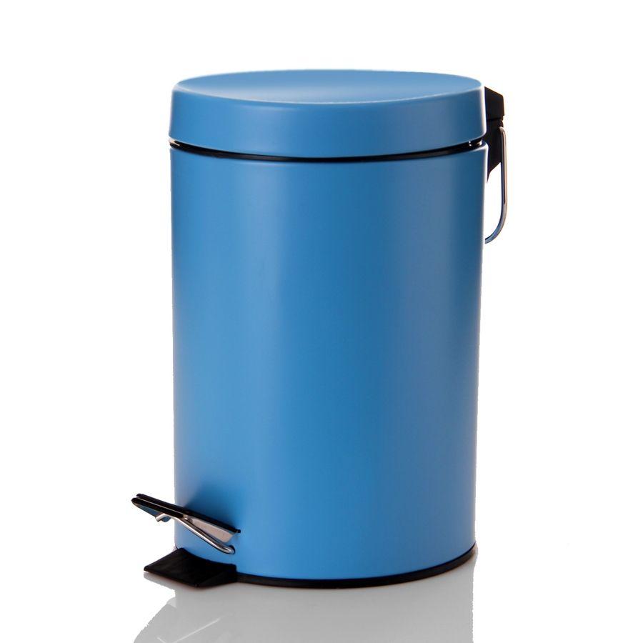 Papelera de color azul para el cuarto de ba o - Decoracion de bano ...