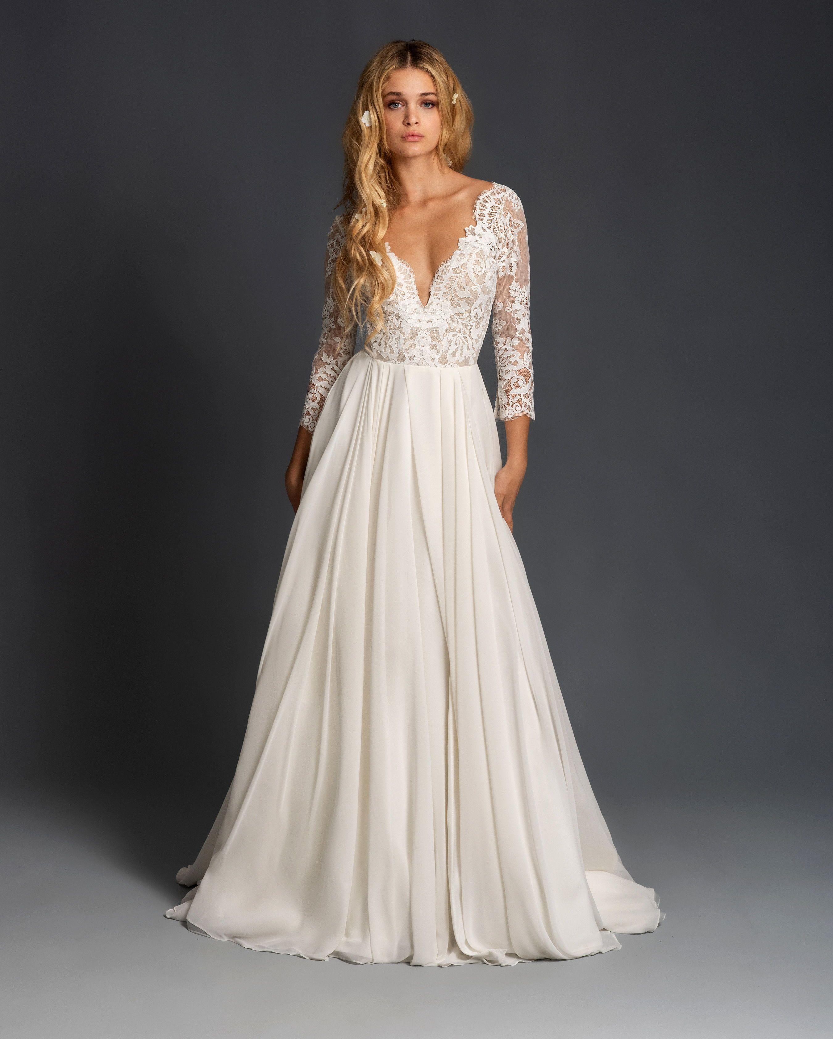 Blush By Hayley Paige Spring 2020 Wedding Dress Collection Wedding Dresses Blush Wedding Dresses Lace Wedding Dress Long Sleeve [ 3369 x 2699 Pixel ]
