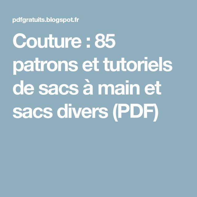 Et À De Couture85 Diverspdf Patrons Sacs Tutoriels Main vYf7bg6y