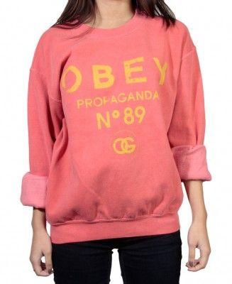 Obey - Obey 89 Vintage Crewneck Sweater - $40