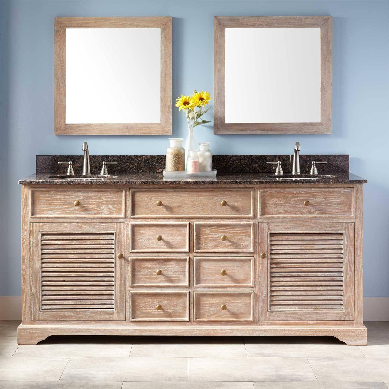 72 Westerfield Double Vanity For Undermount Sinks Whitewash Double Sink Vanity Double Sink Bathroom Vanity Vanity Sink