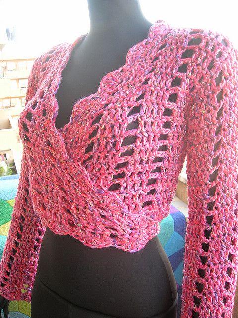 Pink Crochet Bolero   Toreritas - Boleros   Pinterest   Häkeln