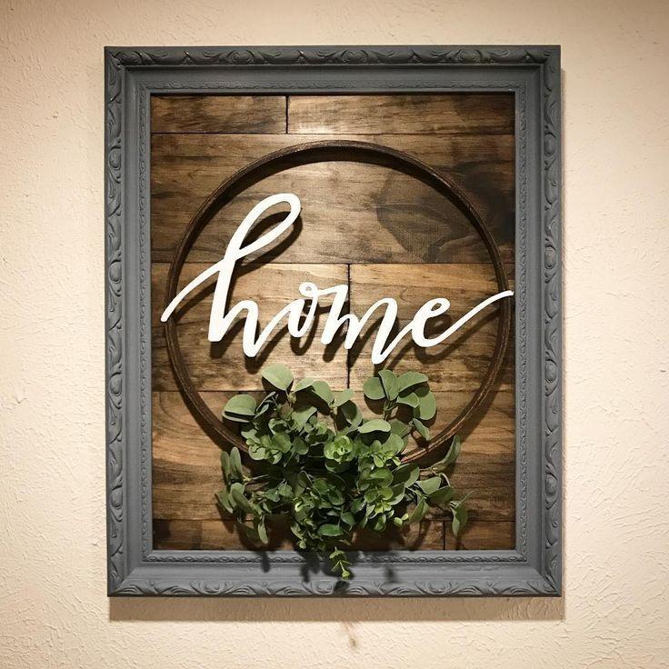 Home - Ich kaufte 3/4 x 6 Kiefernbretter einen Rahmen, den ich von zu Hause aus ... - Diy Home Crafts #stainedwood