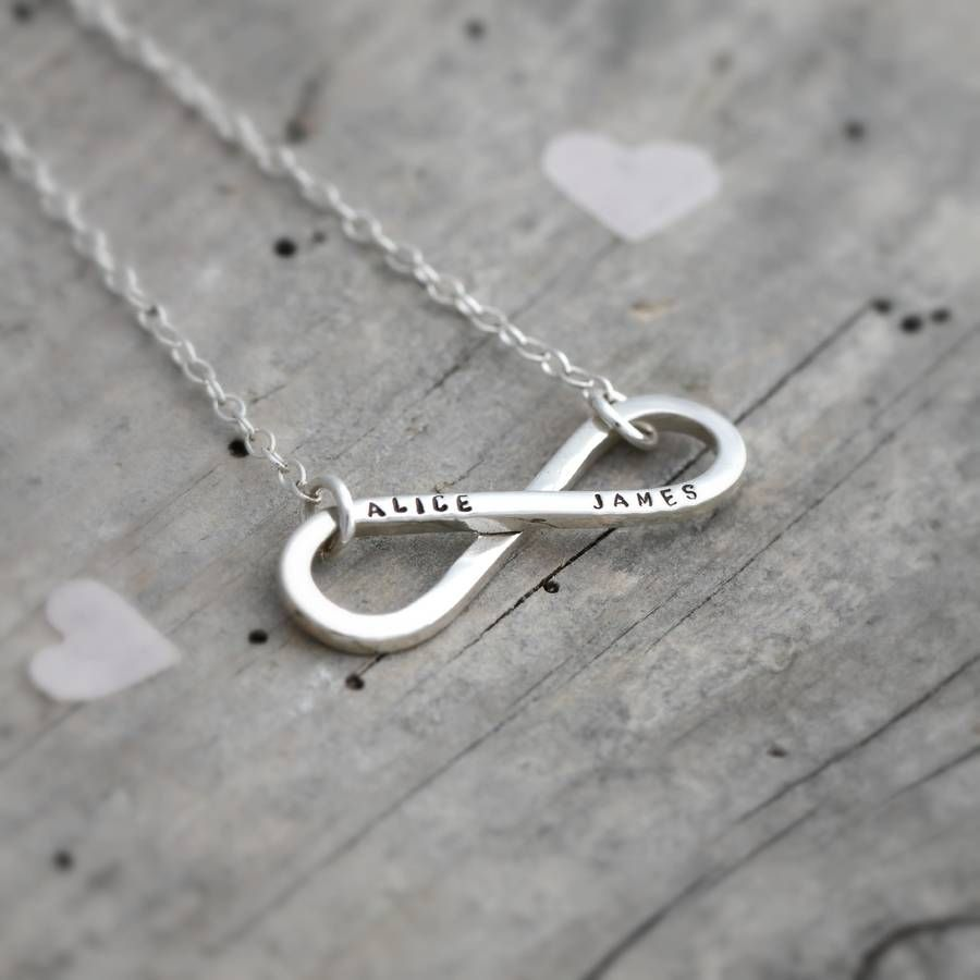 Personalised infinity necklace infinity curves and sterling silver personalised silver infinity necklace from notonthehighstreet aloadofball Gallery