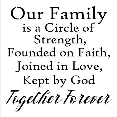 Download Our Family is a Circle of Strength... 12 x 12'' Stencil ...
