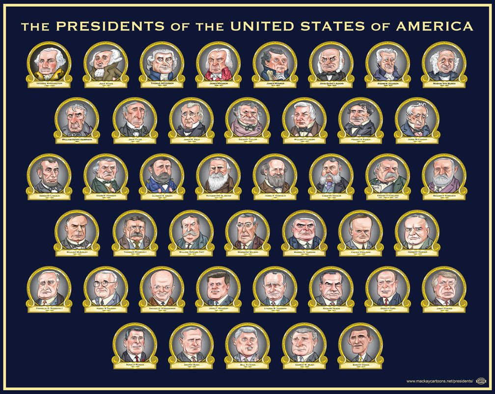 Hall of the Presidents - This poster and full figure depictions of ...