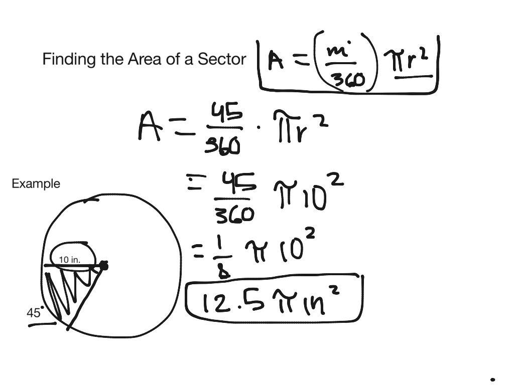 Math In Progress Math Geometry Circles Area Sectors Im2 Showme Math Worksheet Source