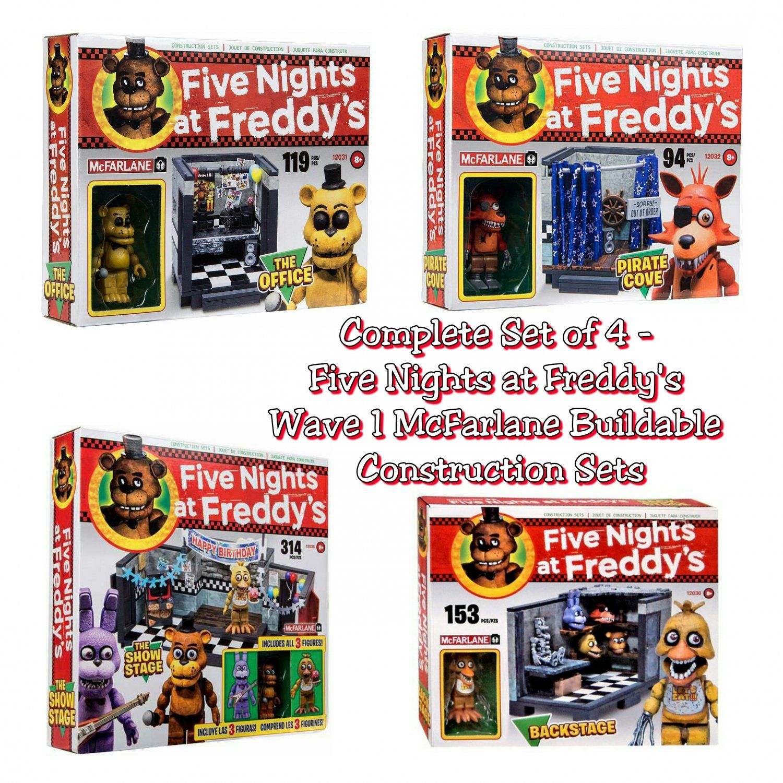 More five nights at freddy s construction sets coming soon - Complete Set Of 4 Five Nights At Freddy S Fnaf Wave 1 Mcfarlane Construction Sets