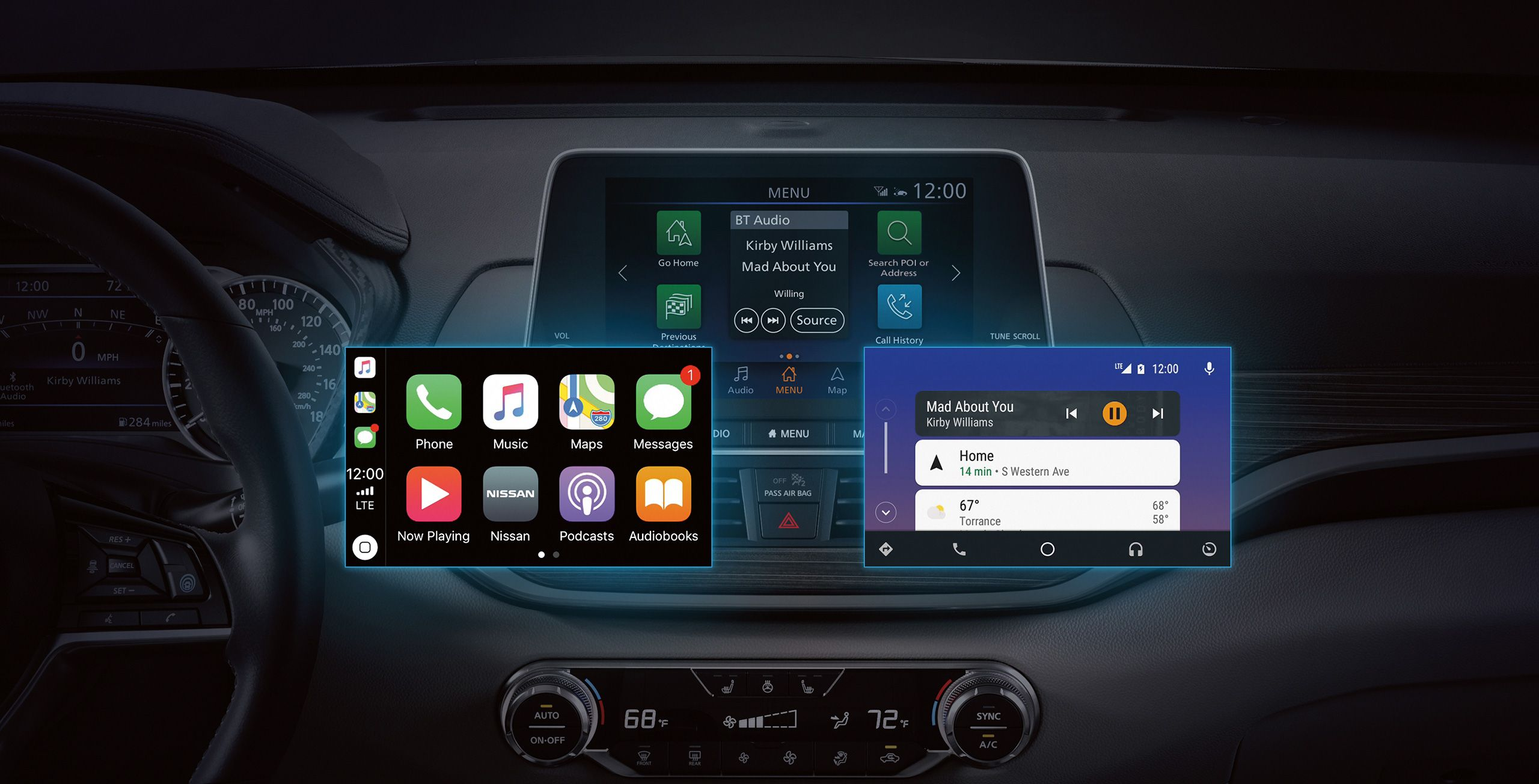 Nissan Connect with Apple CarPlay and Android Auto