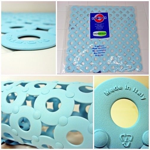 Blue Sink Mat - Gio'Style Italian High Quality Modern - 32cm x 32cm - FREE P&P