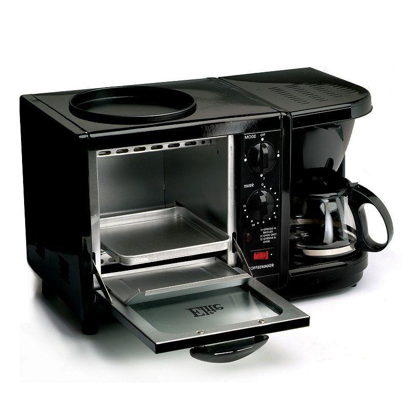 Elite cuisine 3in1 breakfast center black home coffee