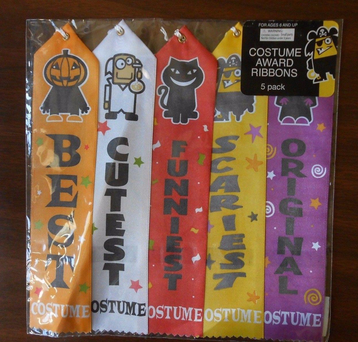 Halloween costume award ribbons set of best cutest funniest