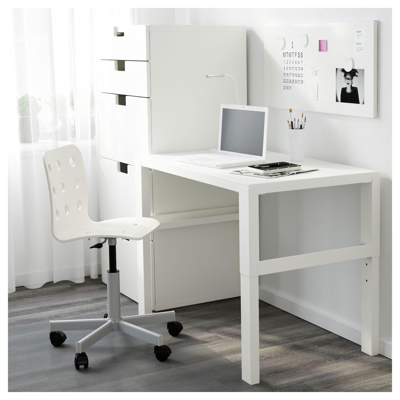 PÅHL Desk white 96x58 cm White desks, Simple room, Ikea