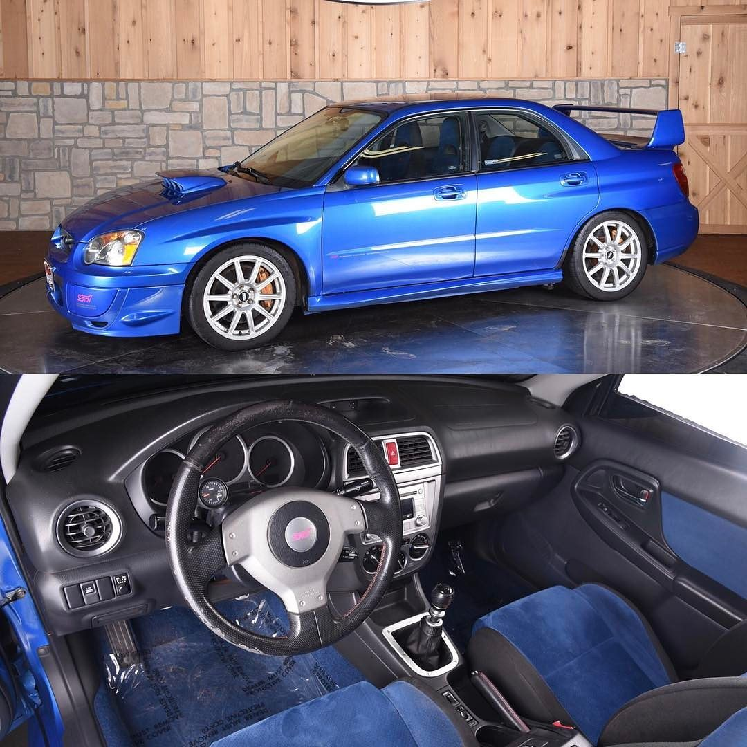 gem alert we have a 2004 subaru wrx sti for sale this car has a clean carfax it even has the world rally blue wit 2004 subaru wrx subaru wrx sti subaru wrx we have a 2004 subaru wrx sti for sale