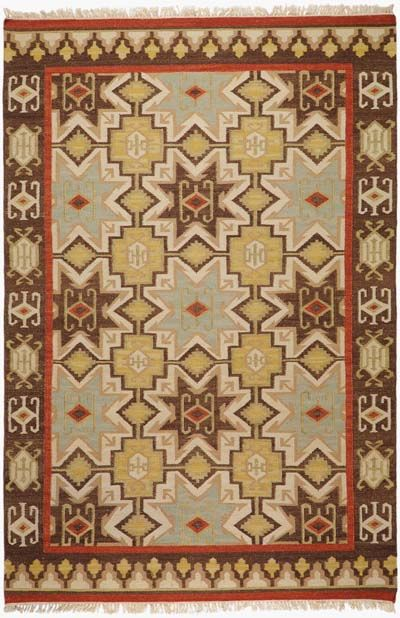 Southwest Style Area Rug 2034 Western Rugs With Hard Twist Texture