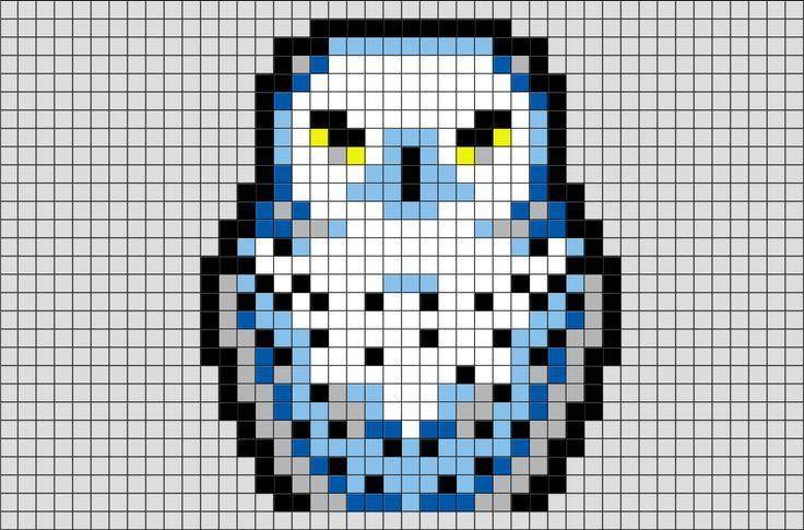 Art Harry Hedwig Pixel Potter Harry Potter Hedwig Pixel Art Hedwig Etait L Animal De Com Pixel Art Hibou Coloriage Pixel Art Pixel Art Harry Potter