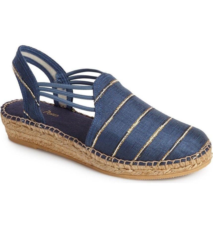496d57c4c5f Main Image - Toni Pons 'Nantes' Silk Stripe Sandal (Women) | Shoes ...