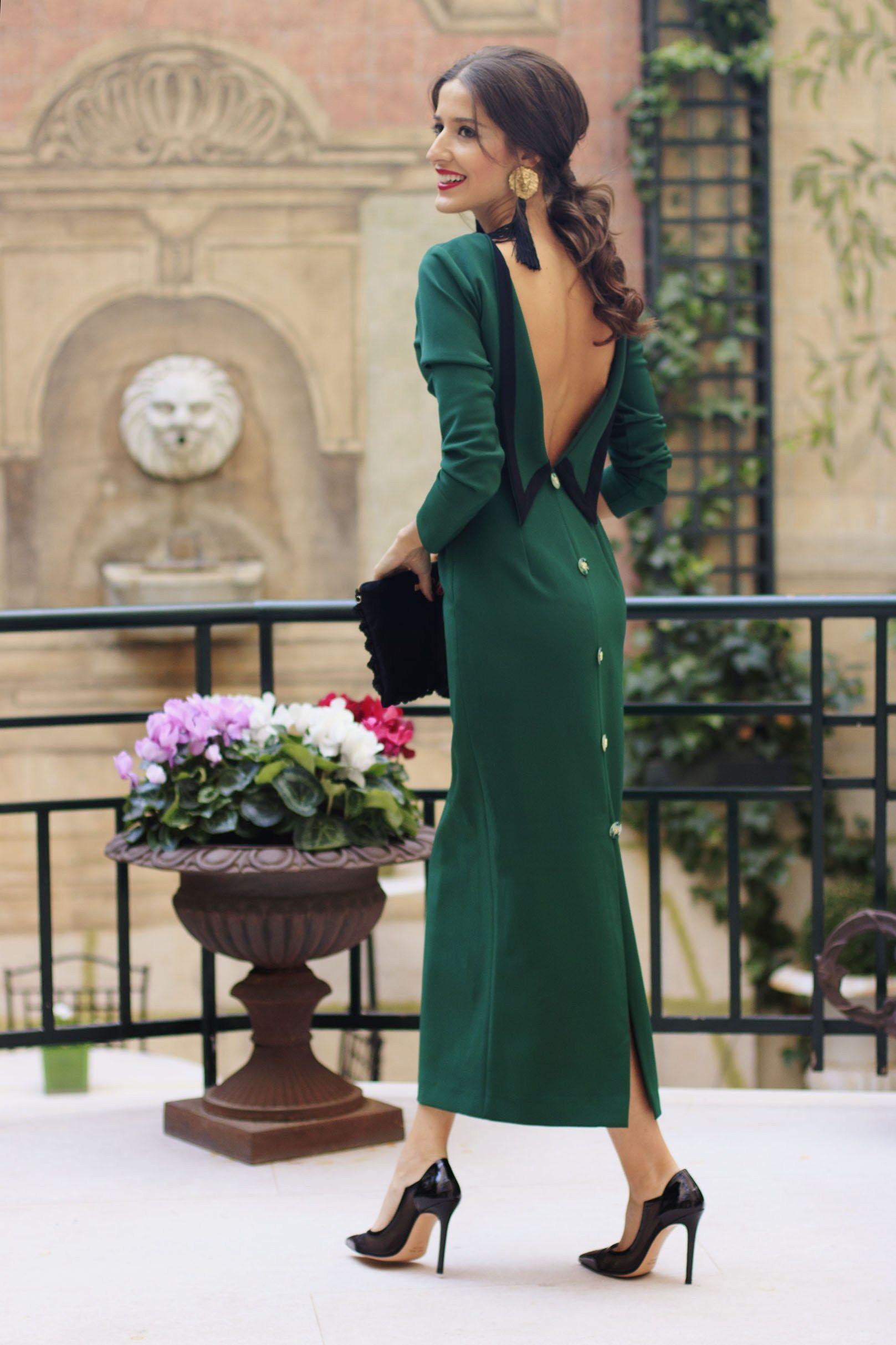 99ab4eb37 look invitada boda vestido midi vintage tocado guantes