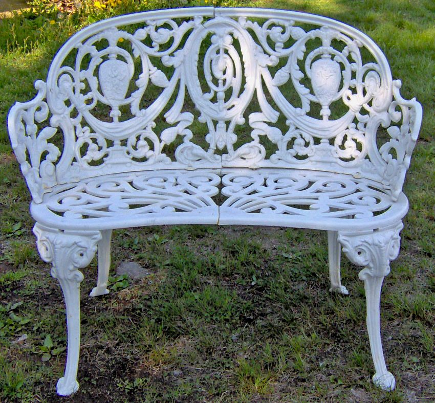 I Already Own One Of These Courtesy Of My Grandma   Cast Iron Garden Bench