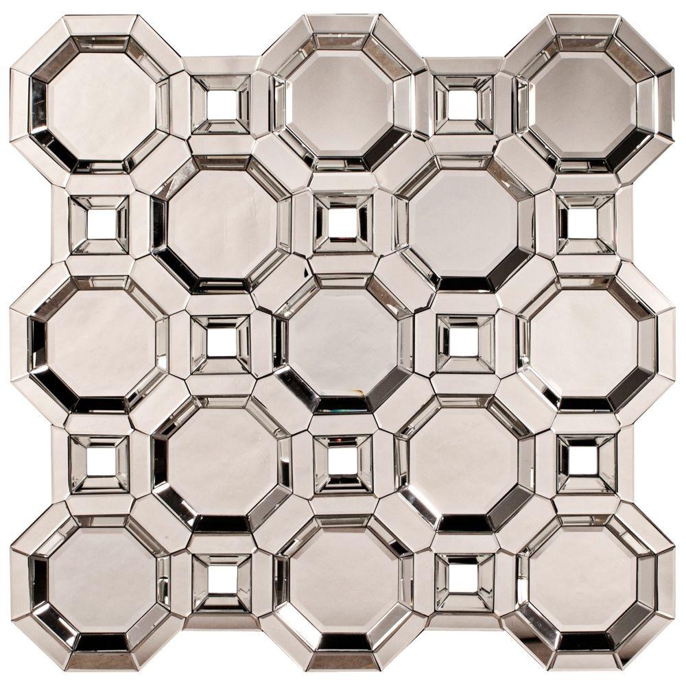 Wire capiz sunburst wall mirror - Contemporary Howard Elliott Crawford Square Accents Wall Mirror 43x43