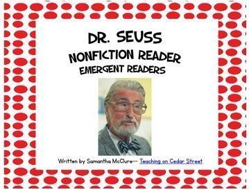 Dr. Seuss activities: FREE Dr. Seuss Nonfiction Booklet for Early Emergent Fluent  Readers.