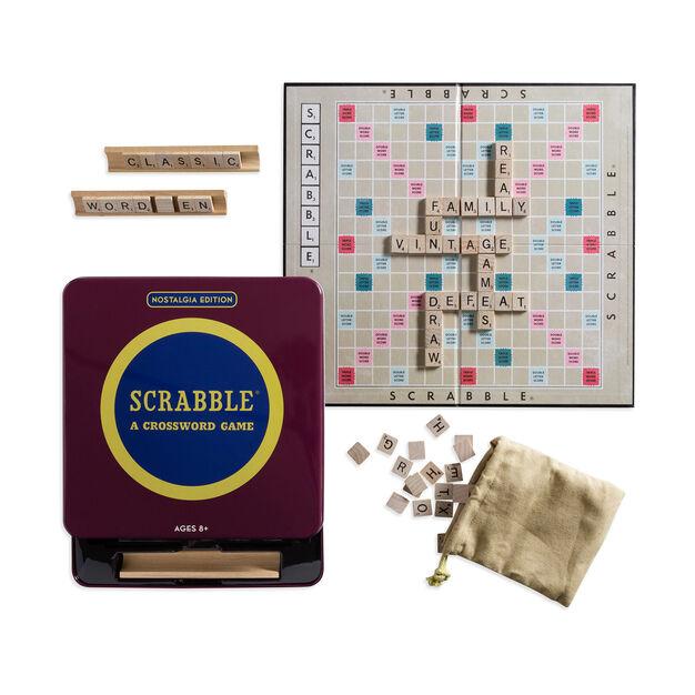 Scrabble Game Tin Nostalgia Edition Scrabble Game Scrabble Board Game Nostalgia