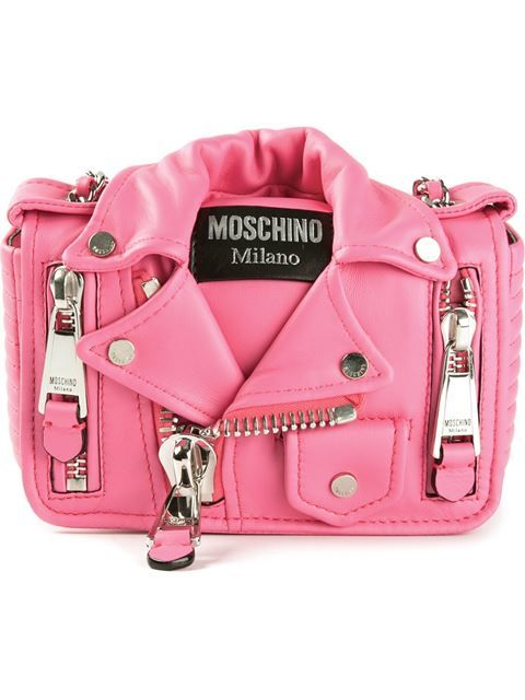 e023b1a6ff Shop Moschino small biker shoulder bag in from the world s best ...