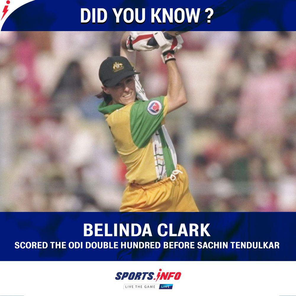 Belinda Clark Scored The Odi Double Hundred Before Sachin Tendulkar Sachin Tendulkar Did You Know Clark