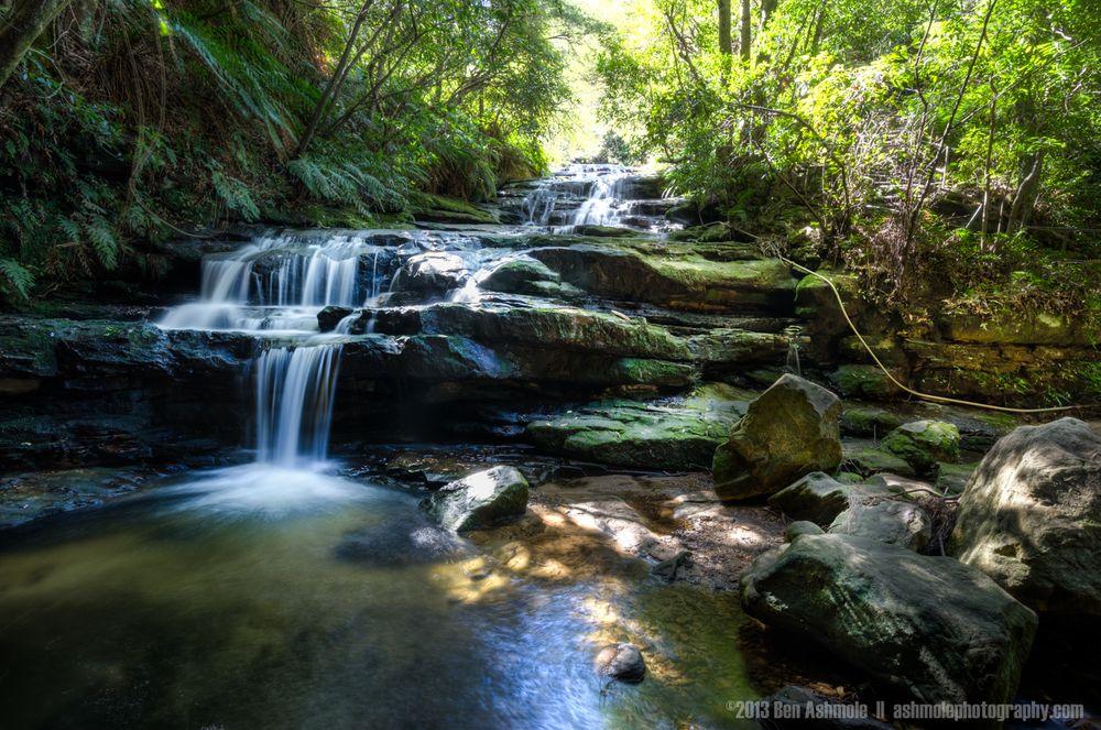 mountains waterfalls forest usa - photo #5