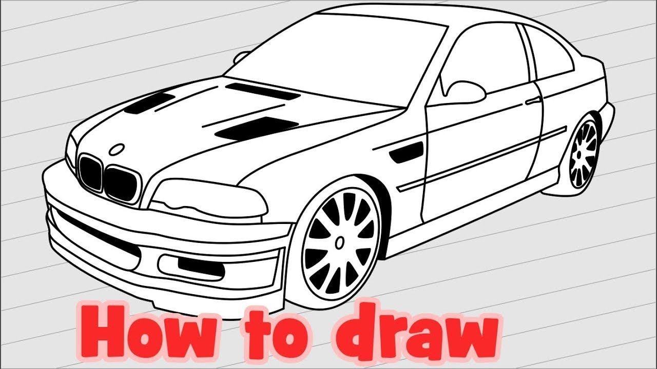 Drawn Bmw Need For Speed Car 3 1280 X 720 Free Clip Art Stock Illustration Owips Com Bmw Auto Zeichnen Autos