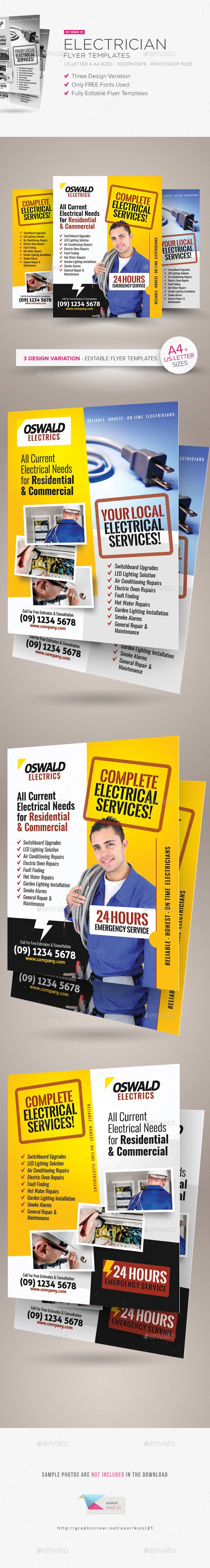 Electrician Flyer Templates  Flyer Template Template And Brochures