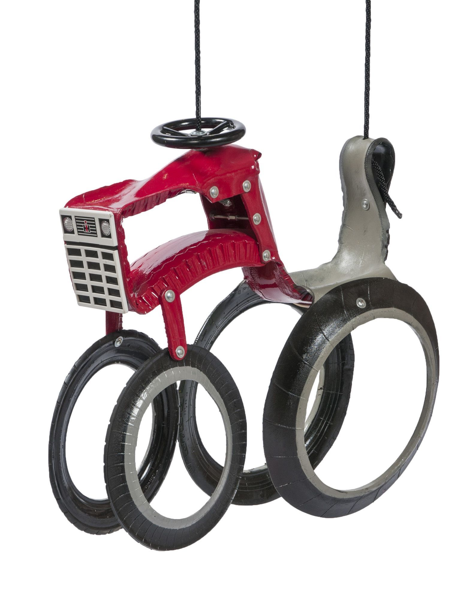 Tractor Swing Tyres Recycle Red Tractor Tire Art