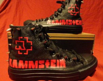 37ea09efd203 RAMMSTEIN Metal Punk Rock Custom Studded Converse Chuck Taylor All Star Sneakers  Shoes with SPIKES not shirt