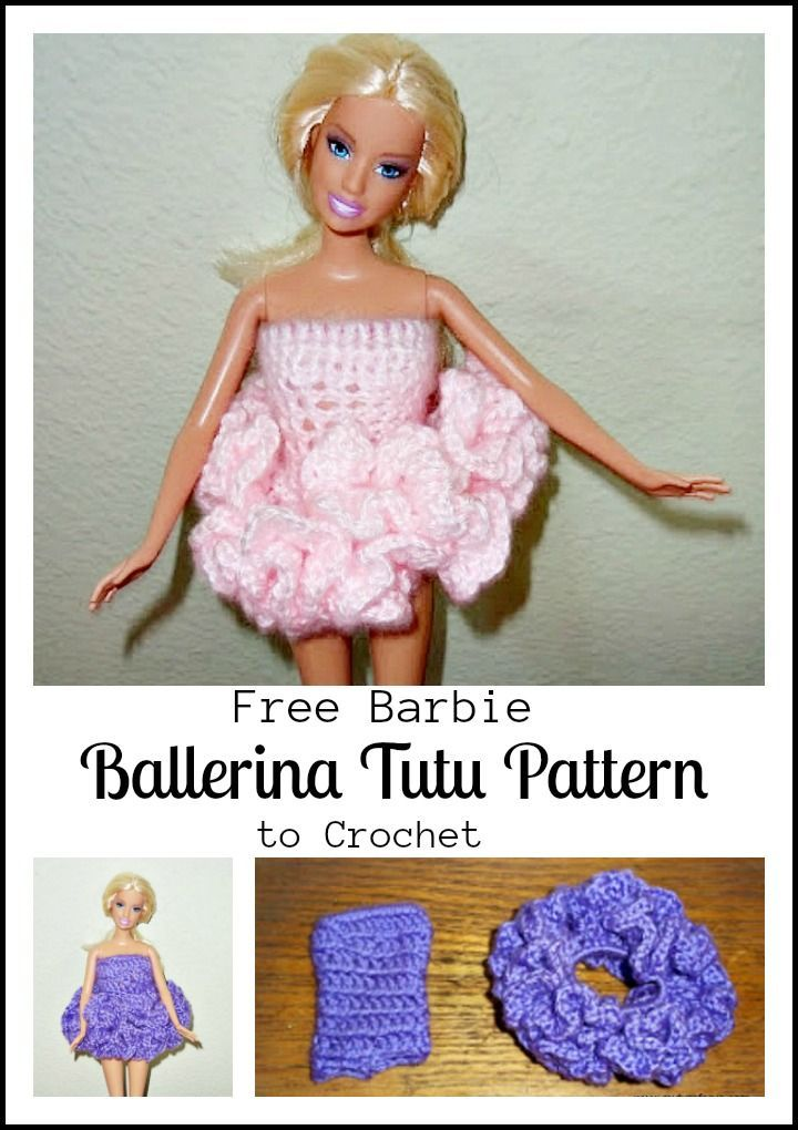 Barbie Ballerina Tutu Pattern to crochet - My Turn for Us