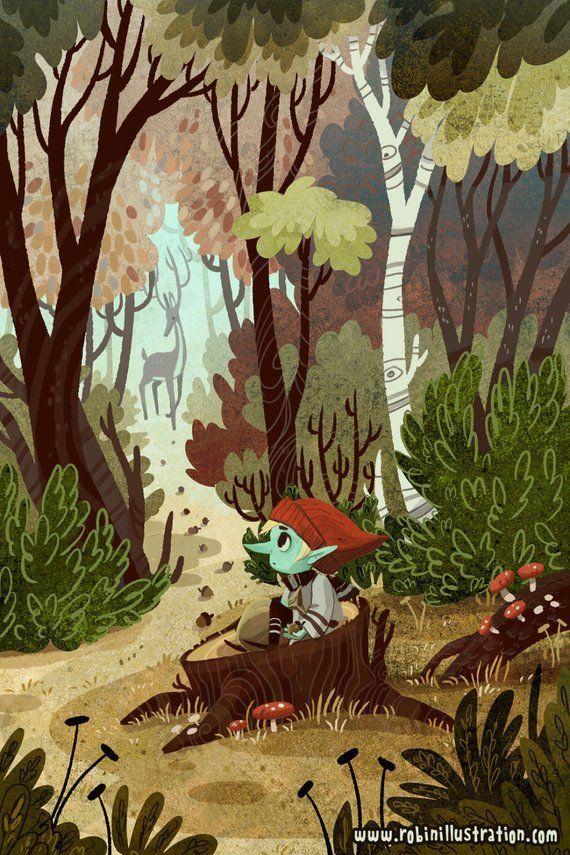 Acorn Trail 8x12 art print | Etsy